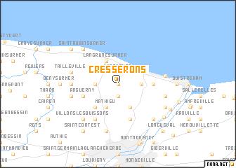 map of Cresserons