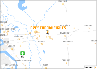map of Crestwood Heights