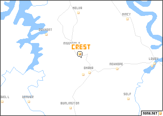 map of Crest
