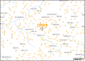 map of Crkva