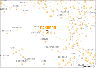 map of Crkveno