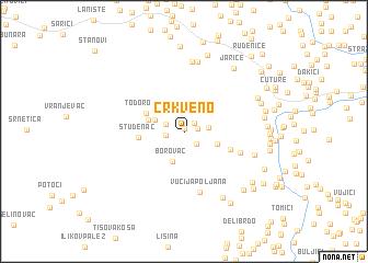 map of Crkveno