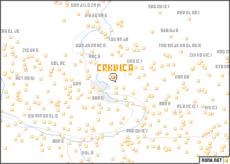 map of Crkvica
