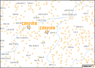 map of Crkvina