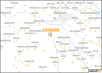 map of Črna Vas