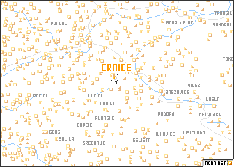 map of Crnice