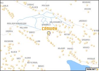map of Crni Vrh