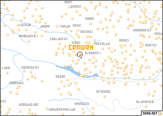 map of Crni Vrh