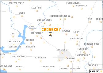 map of Cross Key