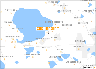 map of Crown Point