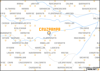 map of Cruz Pampa
