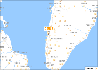 map of Cruz