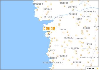 map of Črvar