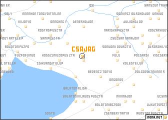 map of Csajág