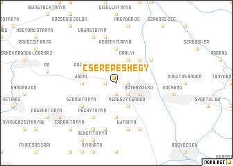 map of Cserepeshegy