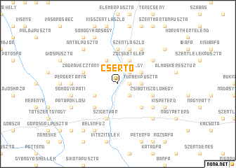 map of Csertő