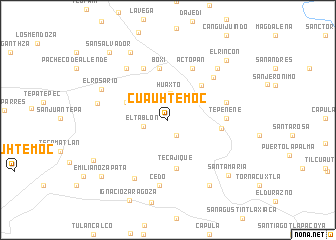 map of Cuauhtémoc