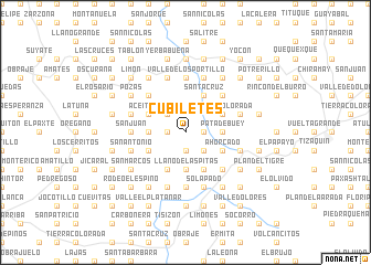 map of Cubiletes