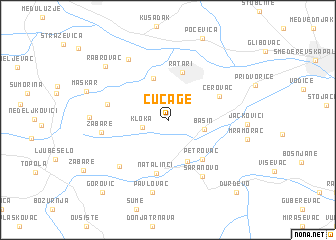 map of Cučage