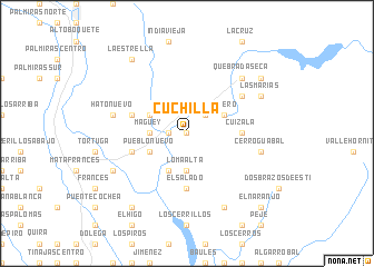 map of Cuchilla