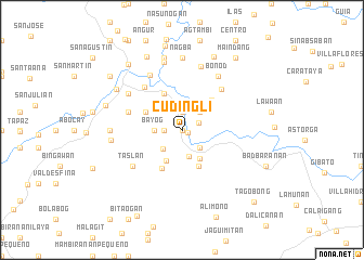 map of Cudingli