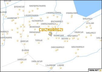 map of Cuizhuangzi