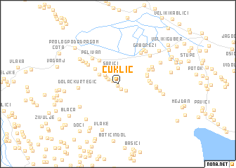 map of Čuklić