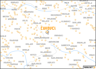 map of Ćukovci