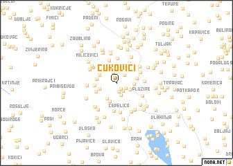 map of Čukovići