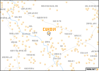 map of Ćukovi