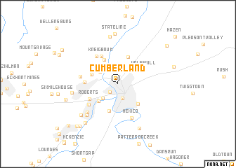 map of Cumberland