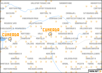 map of Cumeada