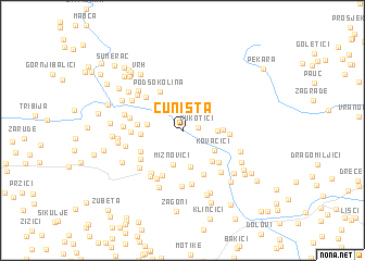 map of Čuništa