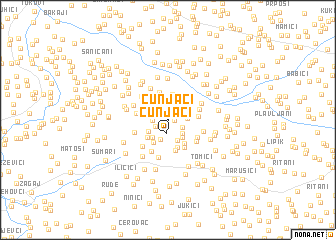 map of Cunjaći