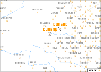 map of Cunsad