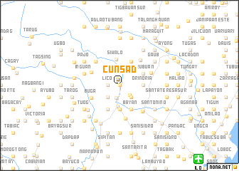map of Cunsad