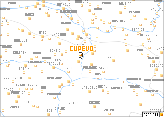 map of Čupevo