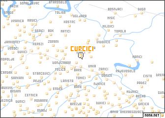map of Curčići