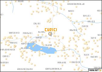 map of Čurići