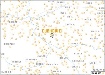 map of Curkovići