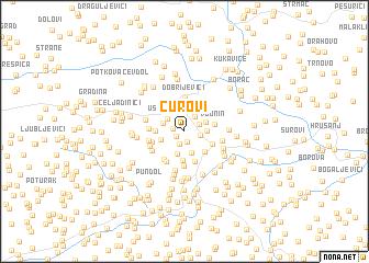 map of Čurovi