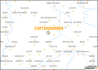 map of Curtuiuşu Mare