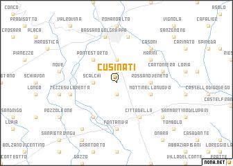 map of Cusinati