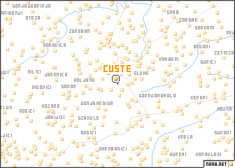 map of Čuste