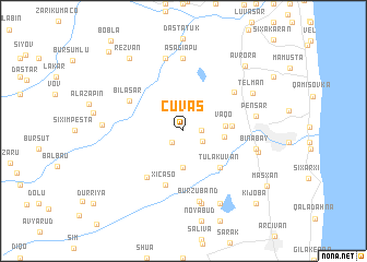 map of Çuvaş