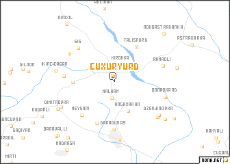 map of Çuxuryurd