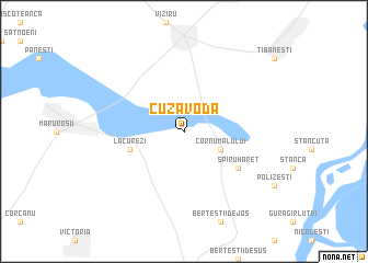 map of Cuza Vodă
