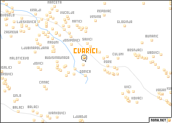 map of Cvarići
