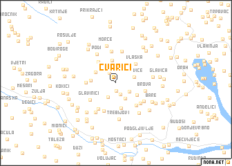 map of Čvarići
