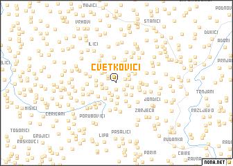 map of Cvetkovići